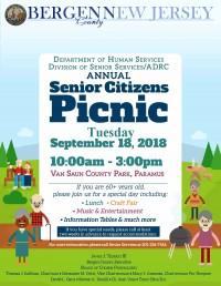 RESCHEDULED | Bergen County Annual Senior Citizens Picnic