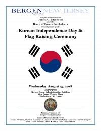Korean Independence Day & Flag Raising Ceremony