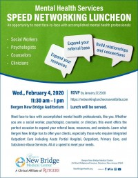 Mental Health Services: Speed Networking Luncheon