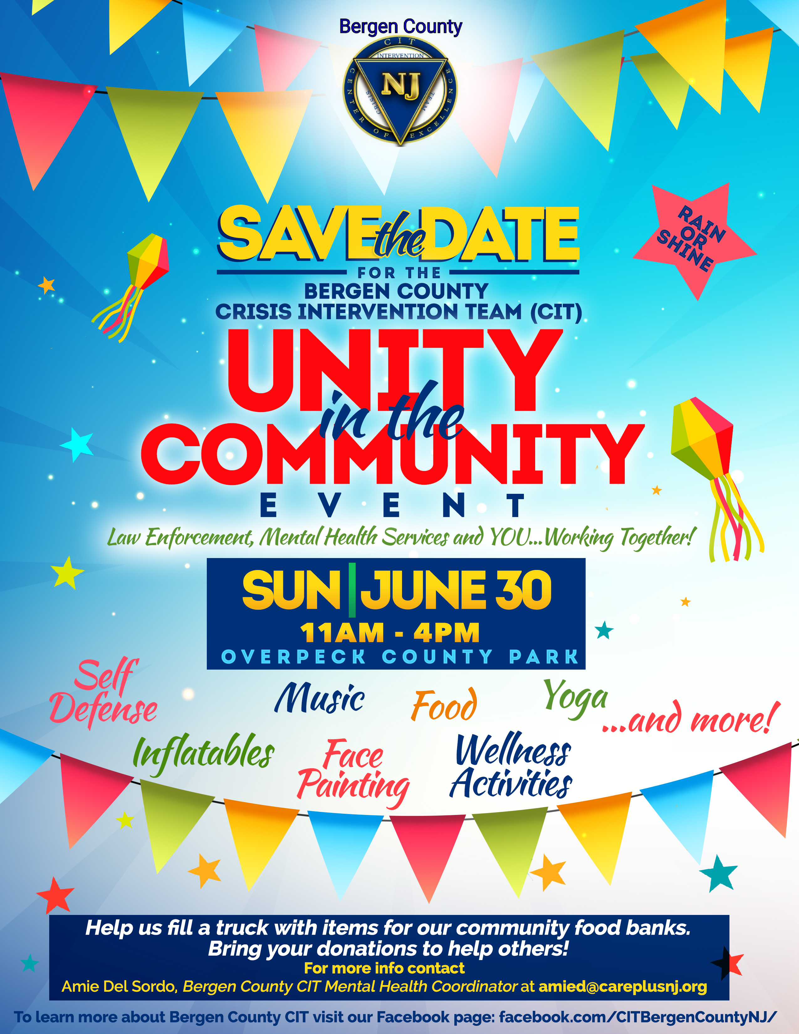 Bergen County CIT Unity in the Community SAVE THE DATE
