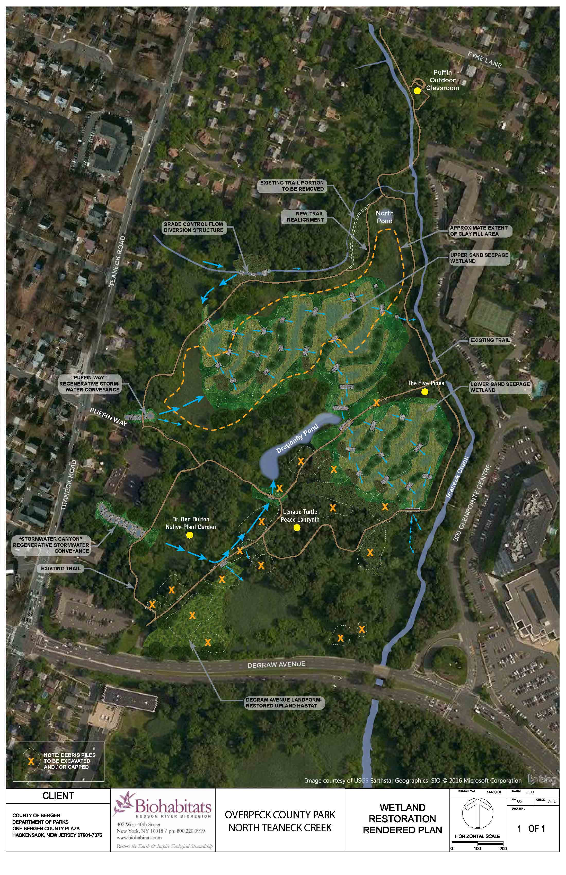 Teaneck Creek Park Restoration Plan overall plan view 08 26 2020
